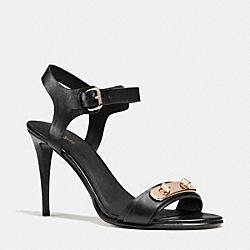 COACH Q7079 Ilana Heel BLACK/BLACK