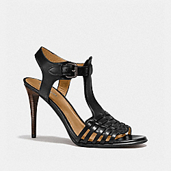 COACH Q7083 Izzy Heel BLACK/BLACK