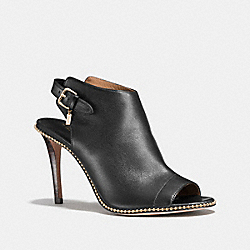 COACH Q7085 Kate Bootie BLACK/BLACK