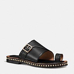 COACH Q7116 Alexa Sandal BLACK