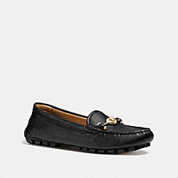 COACH Q7127 Arlene Moccasin BLACK