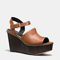 HARLA BEAD CHAIN WEDGE - q7203 - SADDLE