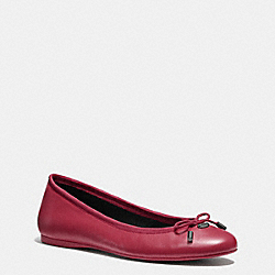 LARA FLAT - q7642 - BLACK CHERRY