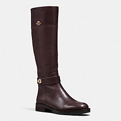 COACH Q7660 Eva Turnlock Riding Boot CHESTNUT/CHESTNUT