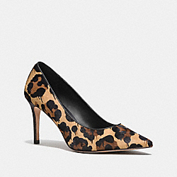 COACH Q7667 Smith Pump In Wild Beast NATURAL