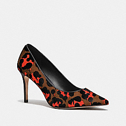 COACH Q7667 Smith Pump In Wild Beast ORANGE