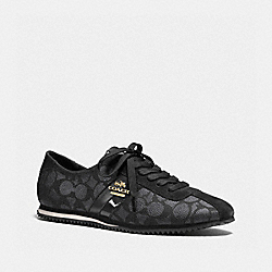 COACH Q7717 Ivy Sneaker BLACK SMOKE