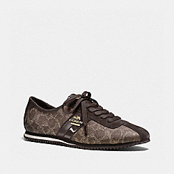 COACH IVY SNEAKER - BLACK BARK - Q7717