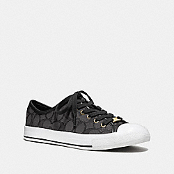 COACH Q7718 Empire Sneaker BLACK SMOKE/BLACK