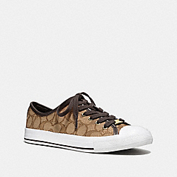 COACH Q7718 Empire Sneaker KHAKI/CHESTNUT