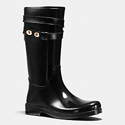 COACH Q7722 Trisha Rainboot BLACK/BLACK