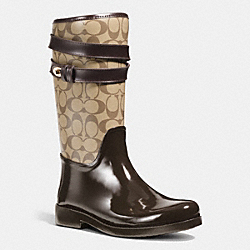 COACH Q7723 Trisha Rainboot CHESTNUT/KHAKI