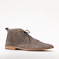 COACH Q772 Caleb Lace Up Desert Boot LIGHT GREY