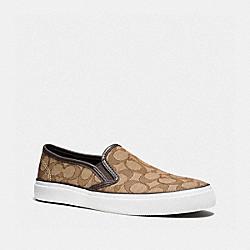 COACH Q7871 Chrissy Sneaker KHAKI/CHESTNUT