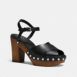 COACH Q8074 Viola Heel BLACK