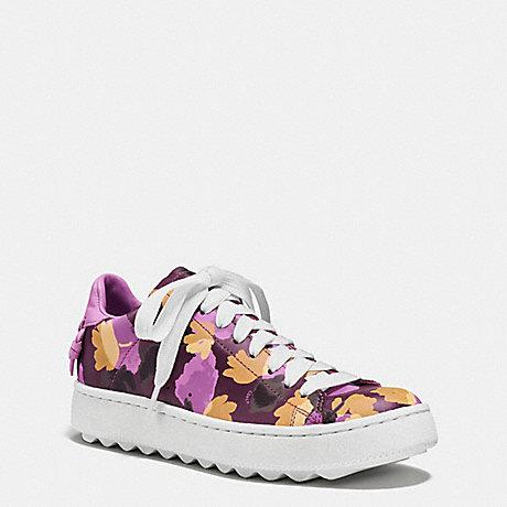 Coach Q8097 C101 Low Top Sneaker Plum Wildflower