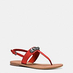 COACH Q8100 Gracie Swagger Sandal CARMINE