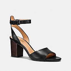 COACH Q8103 Pipher Heel BLACK