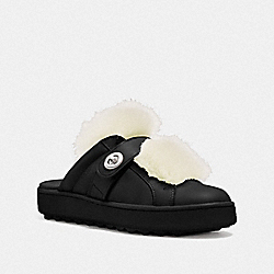 COACH Q8117 Lo Top Slide Sneaker BLACK/NATURAL
