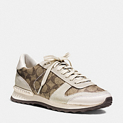 COACH Q8119 Moonlight Sneaker KHAKI/CHALK