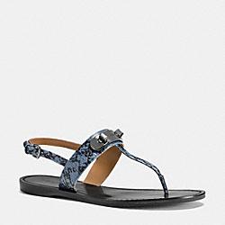 COACH Q8140 Gracie Swagger Sandal CORNFLOWER