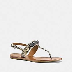 COACH Q8140 Gracie Swagger Sandal NATURAL