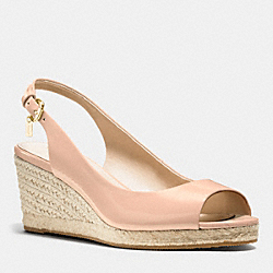 COACH Q8154 Harmony Espadrille Wedge PEACH ROSE