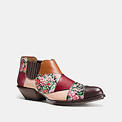 COACH Q8180 Patchwork Bandit Shoe HICKORY/BRICK MULTI