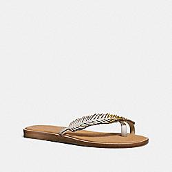 COACH Q8301 Bali Sandal CHALK/GOLD