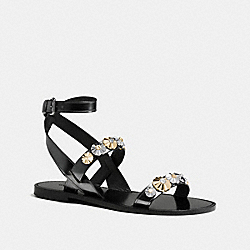 COACH Q8306 Eleanor Sandal GUNMETAL