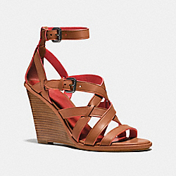COACH Q8333 Dawn Wedge SADDLE