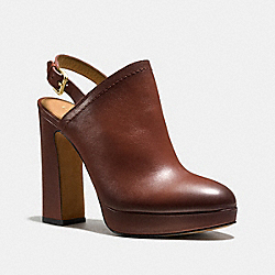 CARMINE HEEL - q8677 - DARK SADDLE BURNISH