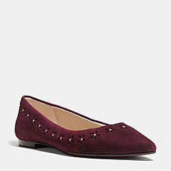COACH Q8683 Joane Flat WARM OXBLOOD
