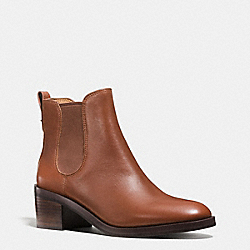 COACH Q8687 Clinton Bootie DARK SADDLE