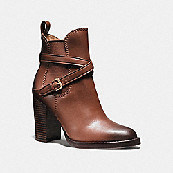 COACH Q8697 Jackson Bootie DARK SADDLE BURNISHED