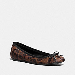 COACH Q8715 Lara Flat DARK BROWN
