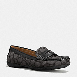 COACH Q8786 Coach Penny Loafer BLACK SMOKE/BLACK