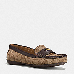 COACH PENNY LOAFER - q8786 - KHAKI/CHESTNUT