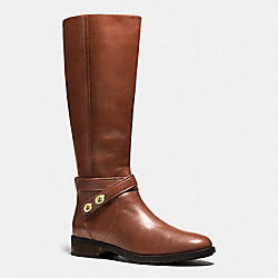 COACH Q8816 Essex Boot DARK SADDLE