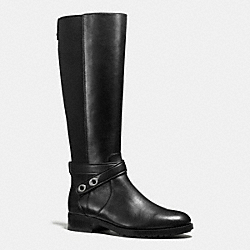 COACH Q8818 Essex Boot BLACK/BLACK
