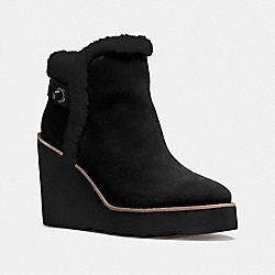 COACH Q8828 Kingston Boot BLACK/BLACK
