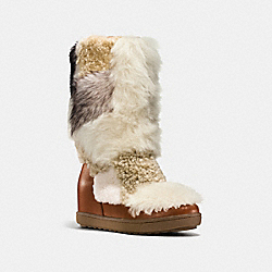 COACH Q8866 Morton Bootie SADDLE/NATURAL MULTI