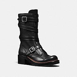 COACH Q8884 - MOTO BOOT BLACK/BLACK
