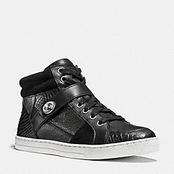 COACH Q8901 Pembroke Patchwork Sneaker BLACK/BLACK