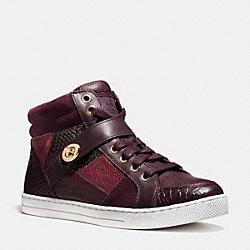 COACH Q8901 Pembroke Patchwork Sneaker OXBLOOD/OXBLOOD