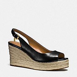 COACH Q9061 Hadley Wedge BLACK