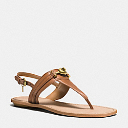 COACH Q9081 Candace Sandal SADDLE