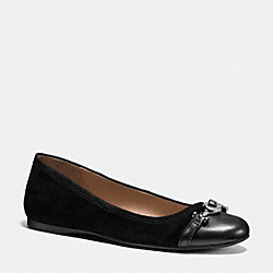 LEILA FLAT - q9092 - BLACK/BLACK