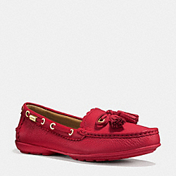COACH Q9098 Coach Tassel Loafer TRUE RED