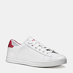 COACH Q9101 Porter Lo Top Sneaker WHITE/TRUE RED